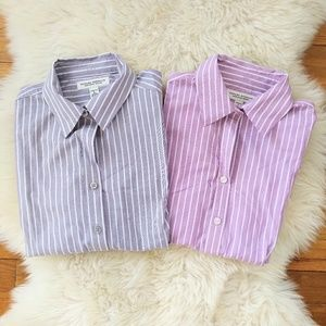 Banana Republic Non Iron Fitted Stripe Button Down